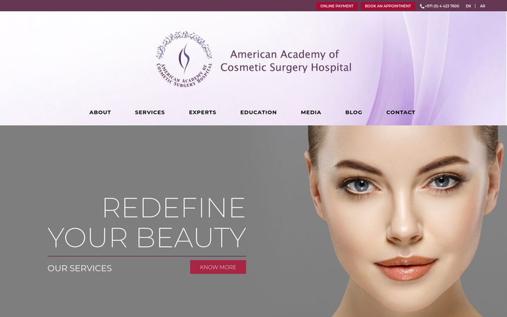 American Academy of Cosmetic Surgery Hospital . Dubai