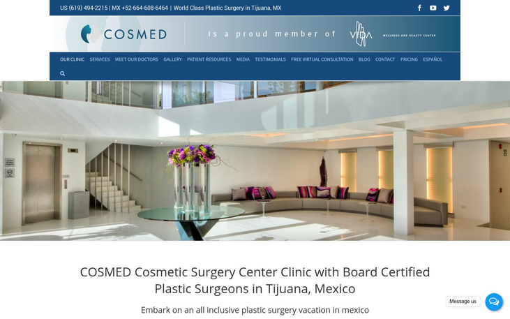 COSMED  Clinic Tijuana Mexico - Best Cosmetic Surgery Clinics In Mexico