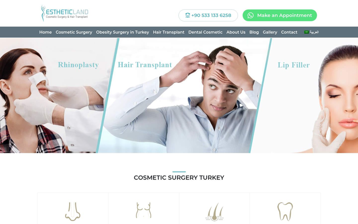 Estheticland Istanbul Turkey - Best Cosmetic Surgery Clinics In Turkey