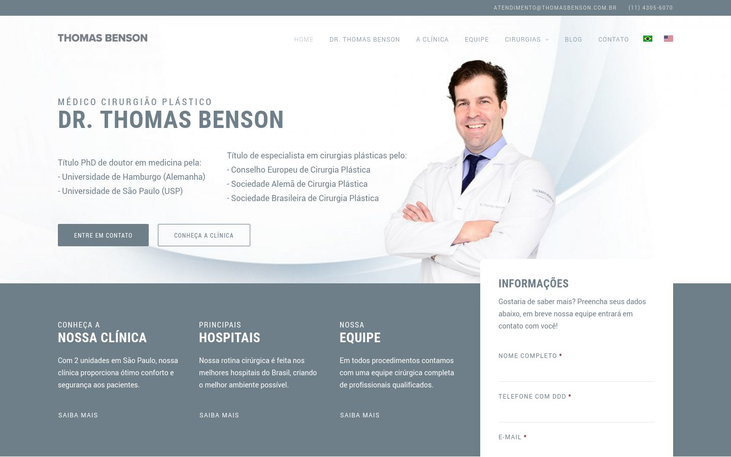 Dr. Thomas Benson Clinic - Cosmetic Surgery In Brazil A Boom Fuelled By The Pandemic