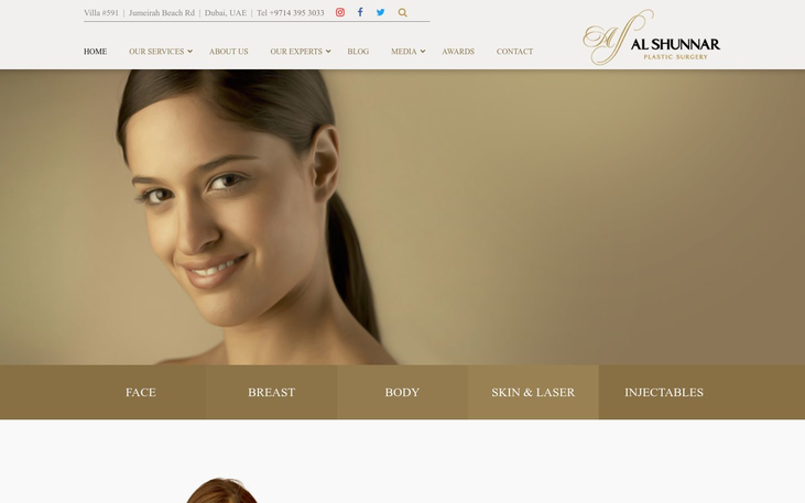 Al Shunnar Plastic Surgery Dubai - Best Cosmetic Surgery Clinics In Dubai
