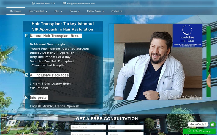 Diamond Hair Clinic Istanbul Turkey - Medical Tourism And Hair Transplant Surgery A Guide