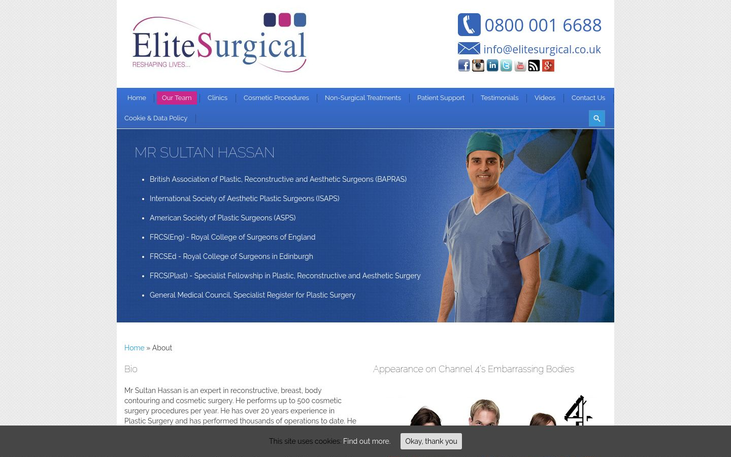 Elite Surgical London UK - Best Cosmetic Surgery Cinics In London Uk