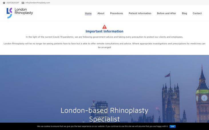 London Rhinoplasty Clinic. London UK