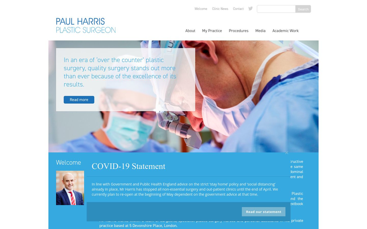 Paul Harris Clinic London UK