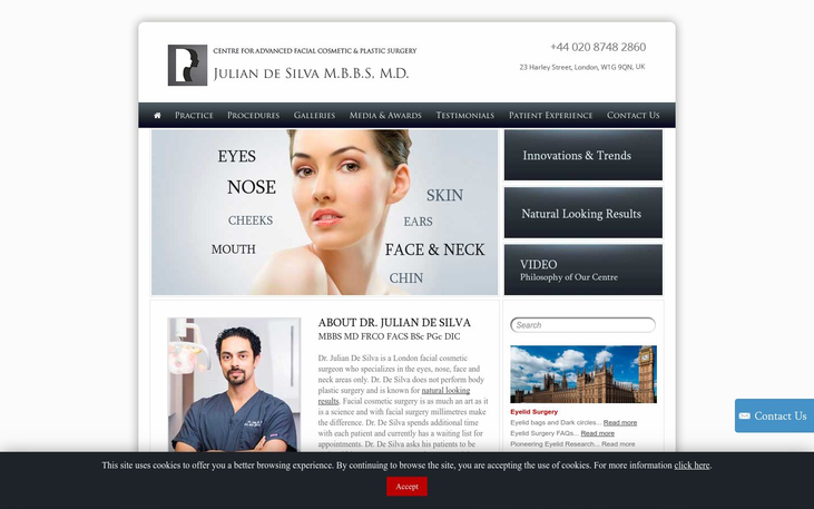 Dr Julian De Silva, 23 Harley Street, London - Best Cosmetic Surgery Cinics In London Uk