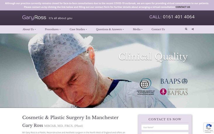 Gary Ross  Manchester UK - Breast Lifts Mommy Makeovers Lifestyle Cosmetic Surgery