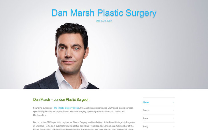 Mr Dan Marsh  London UK - Best Cosmetic Surgery Cinics In London Uk