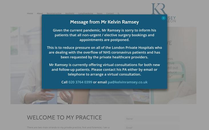 Mr Kelvin Ramsey. London UK - Breast Augmentation Cosmetic Surgery Cy