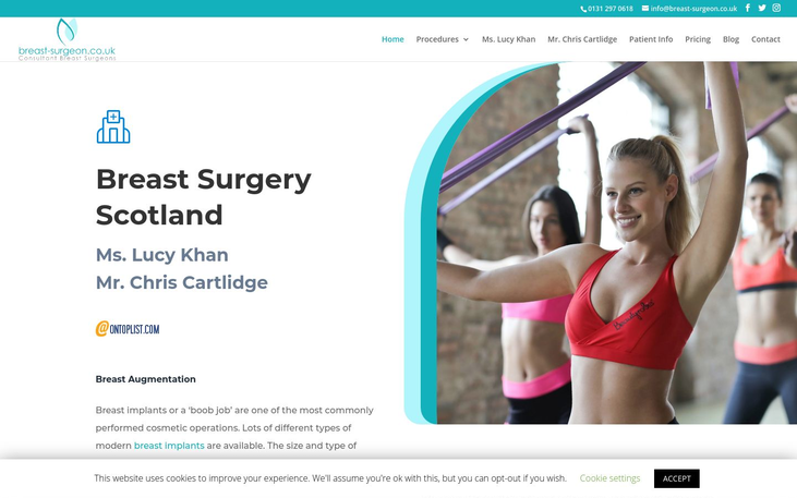 Breast Surgery  Clinic Edinburgh Scotland - Breast Augmentation Cosmetic Surgery Cy