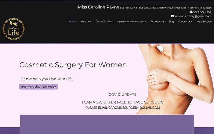 Caroline Payne London UK - Best Cosmetic Surgery Cinics In London Uk