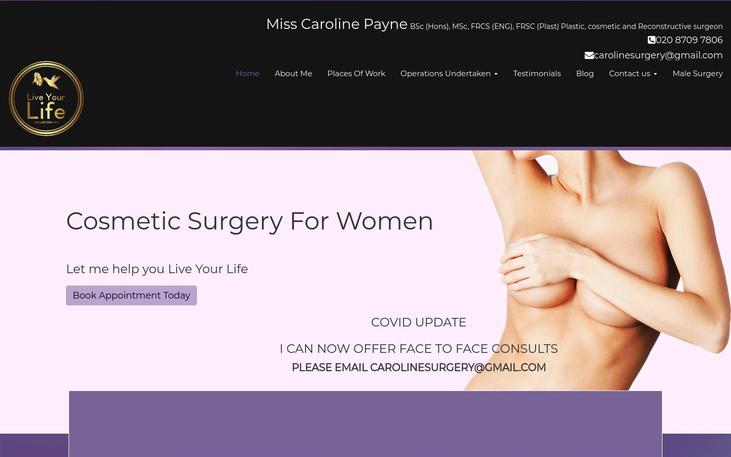 Caroline Payne London UK - Breast Augmentation Cosmetic Surgery Cy