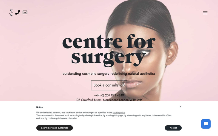 Centre For Surgery. London. UK - Best Facelift Surgeons In Western Europe