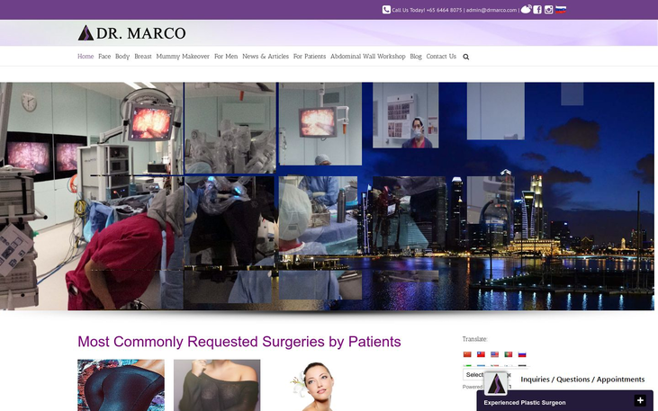 Dr Marco Clinic Singapore - Breast Lifts Mommy Makeovers Lifestyle Cosmetic Surgery