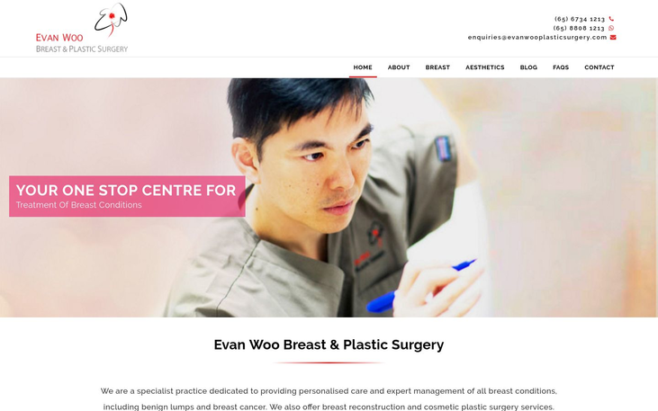 Evan Woo Clinic Singapore - Breast Augmentation Cosmetic Surgery Cy
