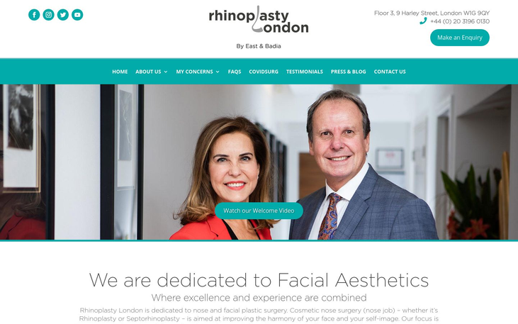 Rhinoplasty London Clinic.   London. UK - Best Facelift Surgeons In Western Europe