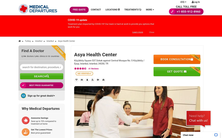 Asya Health Center Istanbul Turkey - Best Cosmetic Surgery Clinics In Turkey