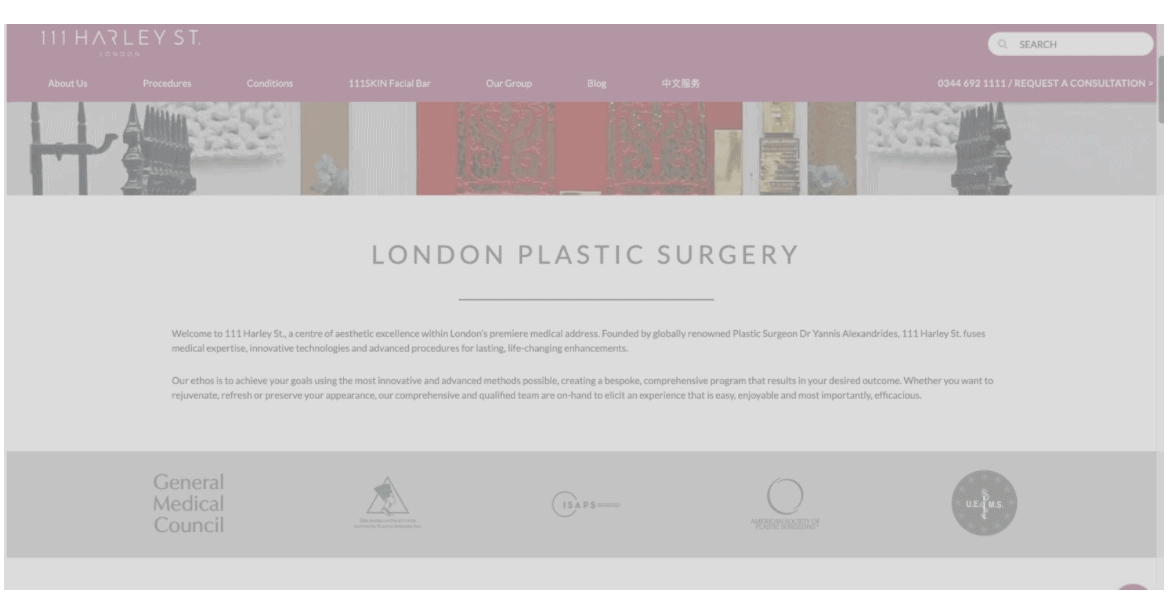 111 Harley St.  London UK - Best Facelift Surgeons In Western Europe