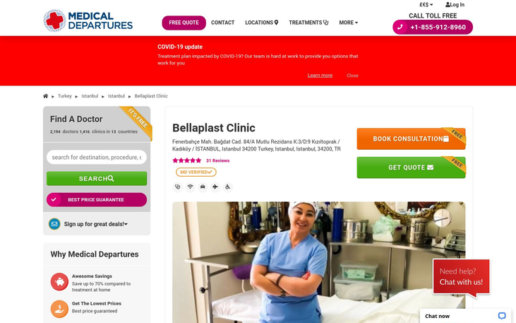 Bellaplast Clinic Istanbul Turkey - Best Cosmetic Surgery Clinics In Turkey