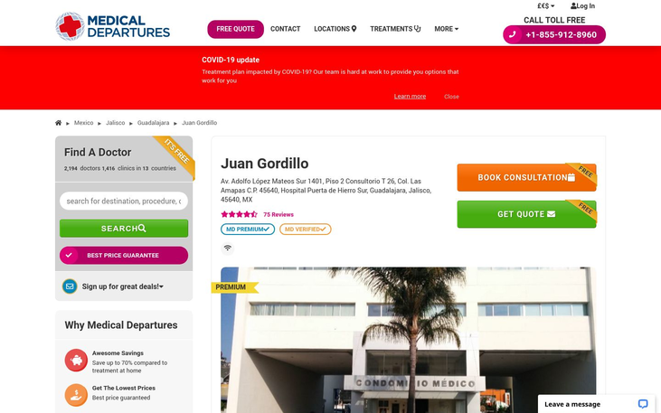 Juan Gordillo. Mexico - Best Cosmetic Surgery Clinics In Mexico