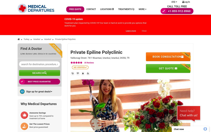 Private Epiline Polyclinic Istanbul Turkey - Best Cosmetic Surgery Clinics In Turkey