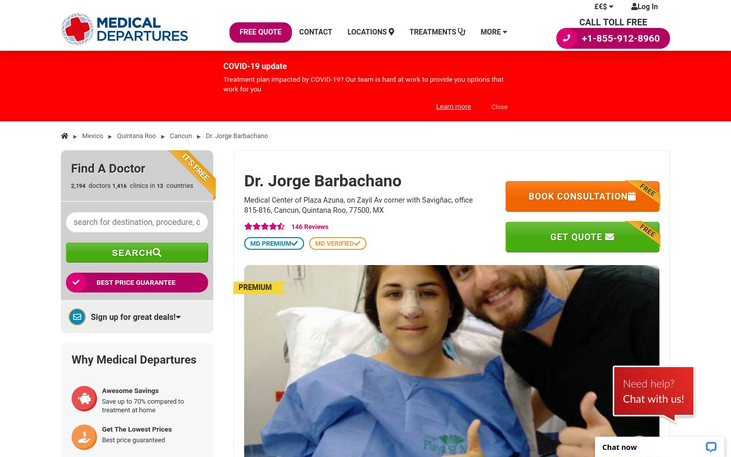 Dr Jorge Barbachano. Cancun Mexico - Best Cosmetic Surgery Clinics In Mexico