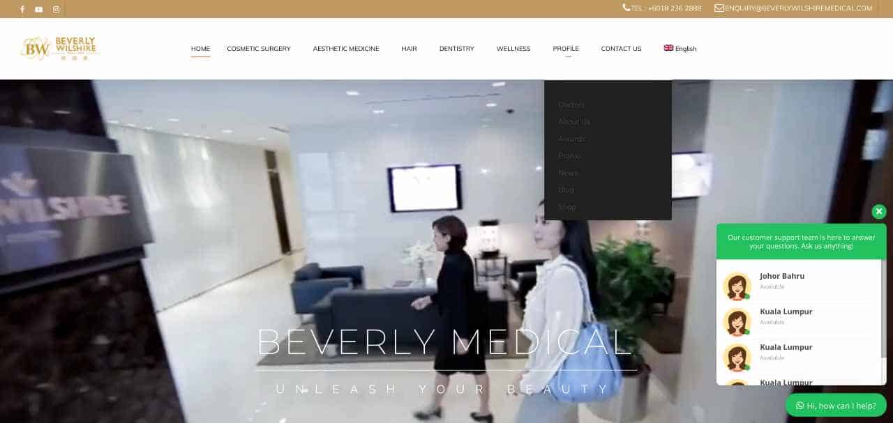 Beverly Wilshire  Medical Centre – Johor Bahru. Malaysia - Cc Top Cosmetic Surgeries In Malaysia Covid Update News
