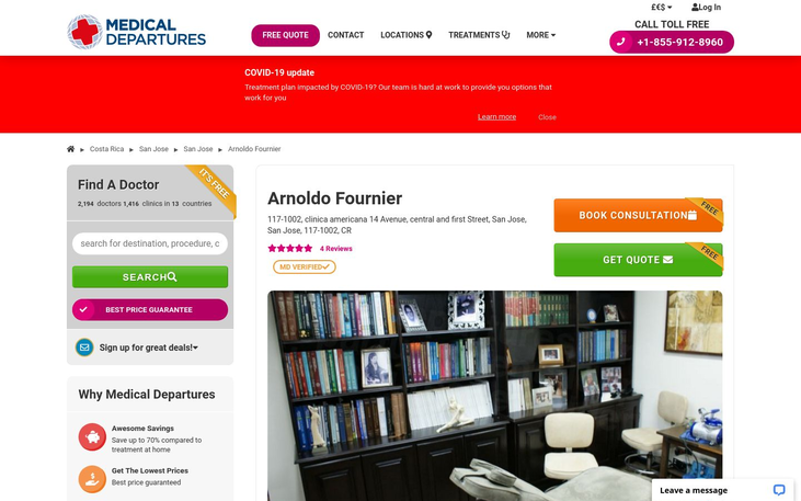 Arnoldo Fournier. Costa Rica - Our Latest Video About Cosmetic Surgery Clinics In Costa Rica